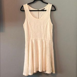 Express Lace Short Dress With Zip Up Back